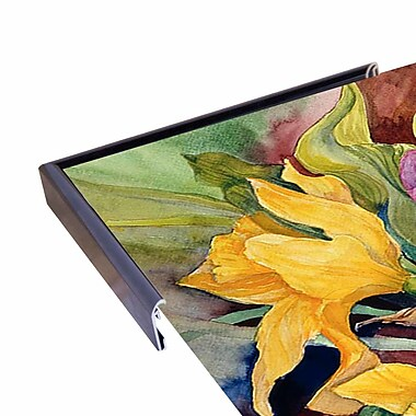 Charlton Home 'Tulips And Daffodils' Print; Rolled Canvas