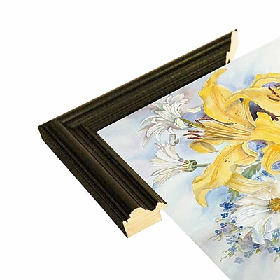 August Grove 'Yellow Lilies-Forget Me Nots-Daisy's' Print; Rolled Canvas