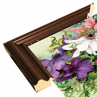 August Grove 'A Rainbow Of Anemones' Framed Print; Cherry Wood Grande Framed Paper