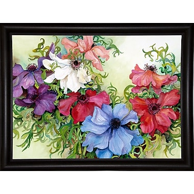 August Grove 'A Rainbow Of Anemones' Framed Print; Bistro Expresso Framed Paper