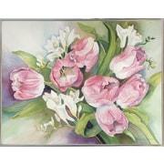 Alcott Hill 'Tulips' Print; Silver Metal Framed