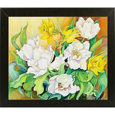 August Grove 'Spring Breeze' Print; Brazilian Walnut Wood Medium Framed Paper