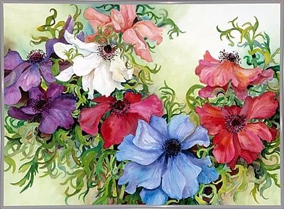 August Grove 'A Rainbow Of Anemones' Framed Print; White Metal Framed