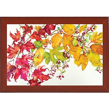August Grove 'Fall Color' Print; Red Mahogany Wood Medium Framed Paper