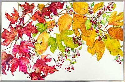 August Grove 'Fall Color' Print; Silver Metal Framed
