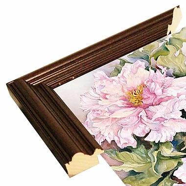 August Grove 'Peonies 2' Print; Cherry Wood Grande Framed Paper