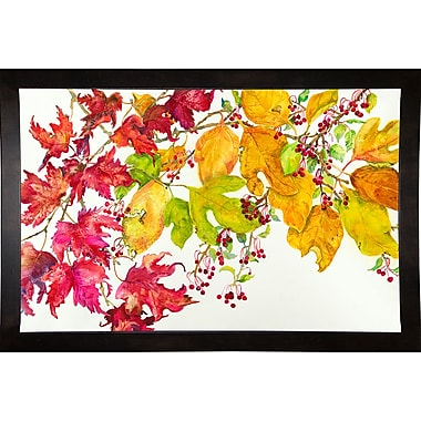 August Grove 'Fall Color' Print; Cafe Espresso Wood Framed Paper