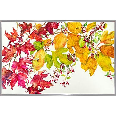 August Grove 'Fall Color' Print; White Metal Framed