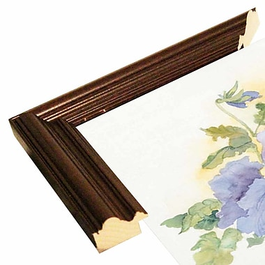 Charlton Home 'Pansies On Parade' Print; Cherry Wood Grande Framed Paper