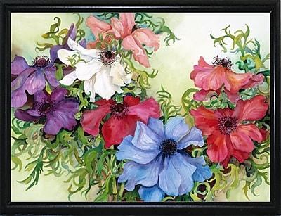 August Grove 'A Rainbow Of Anemones' Framed Print; Flat Back Metal Framed