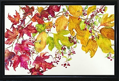 August Grove 'Fall Color' Print; Flat Back Metal Framed