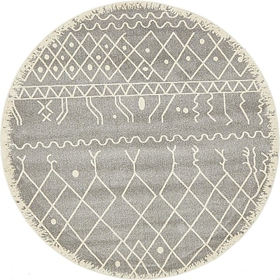 Bungalow Rose Foxhill Gray Area Rug; Rectangle 5' x 8'