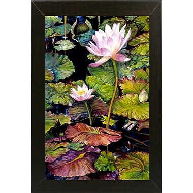 Bloomsbury Market 'Water Lilies' Framed Print; Brazilian Walnut Wood Medium Framed Paper