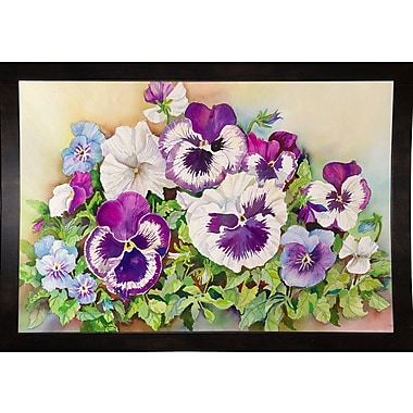 Charlton Home 'Pansy Cluster' Print; Rolled Canvas