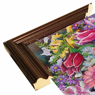 August Grove 'Tulips' Rectangle Frame Print; Cherry Wood Grande Framed Paper