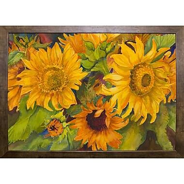August Grove 'Sunny Faces' Print; Cafe Mocha Framed Paper