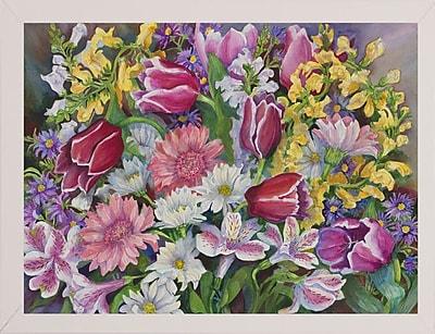 August Grove 'Tulips' Rectangle Frame Print; White Wood Medium Framed Paper