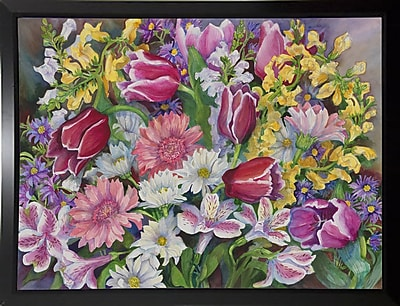 August Grove 'Tulips' Rectangle Frame Print; Rolled Canvas