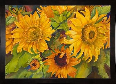 August Grove 'Sunny Faces' Print; Black Wood Medium Framed Paper