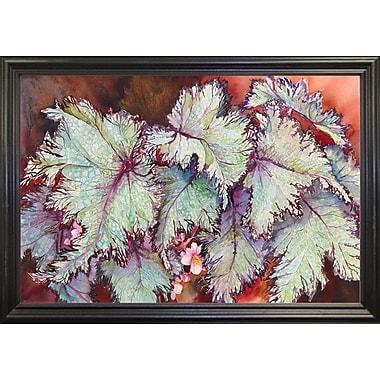 Bloomsbury Market 'Begonia Leaves' Print; Black Wood Grande Framed Paper