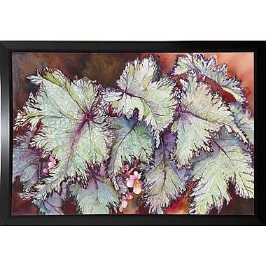 Bloomsbury Market 'Begonia Leaves' Print; Black Plastic Framed Paper
