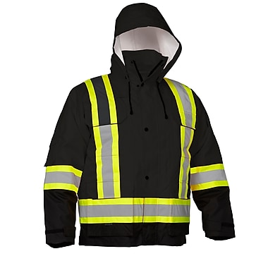 Forcefield - Parka de sécurité 4-en-1, indéchirable, noir, moyen (024-EN705RBK-M)
