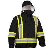 Forcefield 4-In-1 Safety Parka, Black Ripstop