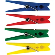 """Teacher Created Resources 2 7/8"""" x 3/8"""" Plastic Clothespins, 40/Pack (TCR20649)"""
