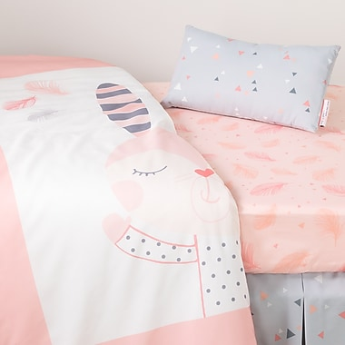 South Shore DreamIt Pink Doudou the rabbit 3-Piece Baby Crib Bed Set and Pillow (100100)
