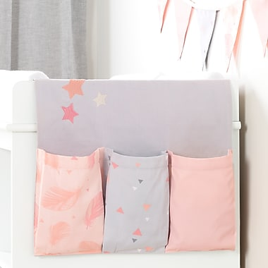 South Shore DreamIt Pink and Grey Doudou the rabbit Changing Table Runner and Pennant Banner (100103)
