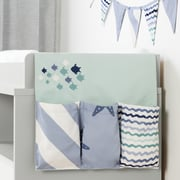 South Shore DreamIt Blue Little Whale Changing Table Runner and Pennant Banner (100107)