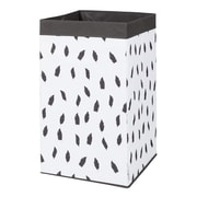South Shore Storit White/Grey Laundry Hamper Feathers Print (100213)