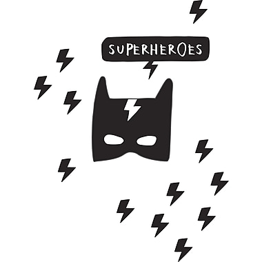 South Shore DreamIt Black Superheroes Wall Decals (100099)