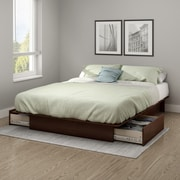 "South Shore Step One Full/Queen Platform Bed 54/60"" with Drawers"