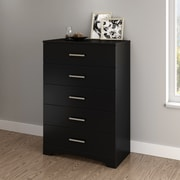 South Shore Gramercy 5-Drawer Chest, Pure Black (10448)