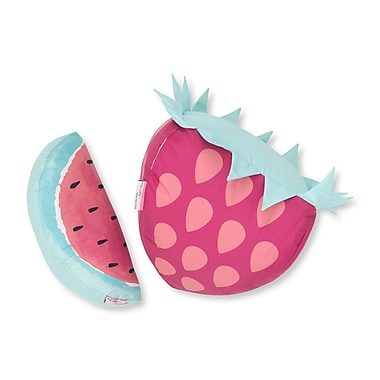 South Shore DreamIt Pink and Turquoise Strawberry & Watermelon Throw Pillows, 2/Pack (100093)