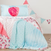 South Shore DreamIt Pink and Turquoise Watermelons and Dots Reversible Twin Comforter and Pillowcase (100092)