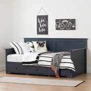 """South Shore Summer Breeze 39"""" Twin Daybed with Storage, Blueberry (10694)"""