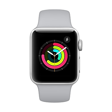 Apple Watch Series 3, 38mm, GPS, Space Grey Aluminum Case with Black Sport Band, (MQKV2CL/A)