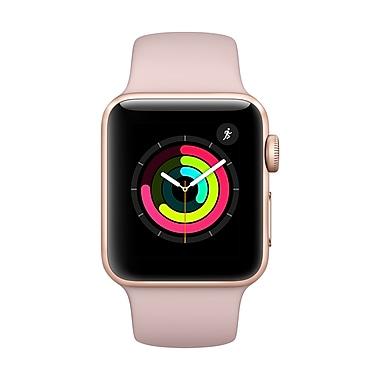 Apple – Montre Apple Watch Series 3, 38 mm, GPS, boîtier en aluminium or, bracelet sport sable rose (MQKW2CL/A)