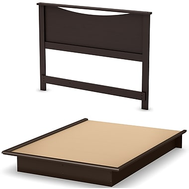 South Shore Step One Queen Platform Bed with Mouldings and Headboard 54/60