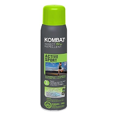 Kombat – Insectifuge en aérosol Active Sport, avec 15 % de DEET, 200 g (90301)