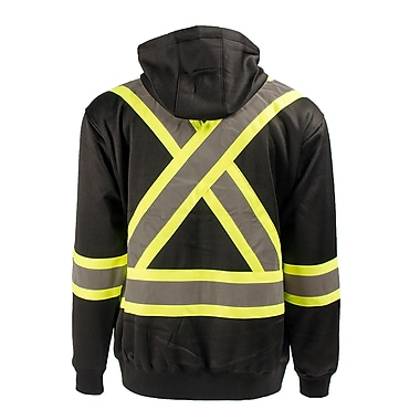 Terra Hi-Vis Hoodie with Removable Hood, Black, 2X-Large (116506BK2X-Large)