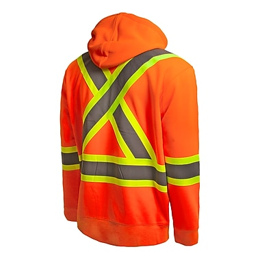 Terra – Veste à capuchon Hi-Vis, avec capuchon amovible, orange, 3X-Grand (116506OR3X-Large)