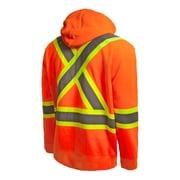 Terra Hi-Vis Hoodie with Removable Hood, Orange (116506OR2X-Large)