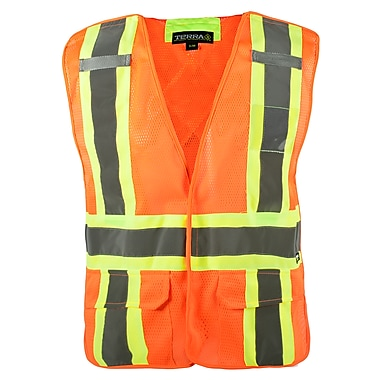 Terra – Veste sans manches Hi-Vis détachable 5 points, orange, G/X-G, paq./3 (116523ORLXL/3)