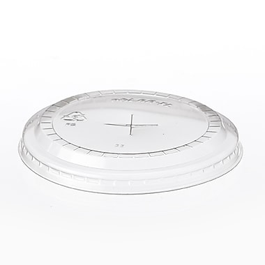 Polar Plastiques XL Extra Large Polystyrene Lid With Slot For 14 oz. Cup, Clear