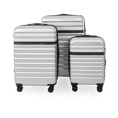 Bugatti - Ensemble de valises Corium, polycarbonate, 3 pièces, argent (49710343-SILVER)