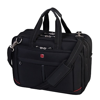 Swiss Gear - Mallette de luxe pour portatif de 17,3 po, noir