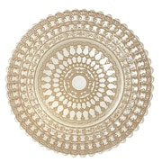 Elegance Set of 4 Lace Glass Dining Charger Plates